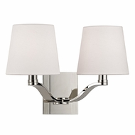 Hudson Valley 2462-PN Clayton Polished Nickel Finish 14  Wide Wall Lighting Fixture