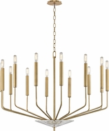 Hudson Valley 2614-AGB Gideon Contemporary Aged Brass Chandelier Light
