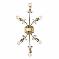 Hudson Valley 2706-AGB Alexandria Aged Brass Light Sconce