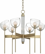 Hudson Valley 2806-AGB Davis Contemporary Aged Brass LED Hanging Chandelier