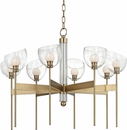 Hudson Valley 2808-AGB Davis Contemporary Aged Brass LED Chandelier Lighting