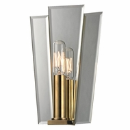 Hudson Valley 330-AGB Oakdale Aged Brass Finish 6  Wide Lighting Wall Sconce