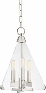 Hudson Valley 3333-PN Triad Modern Polished Nickel 12  Foyer Light Fixture
