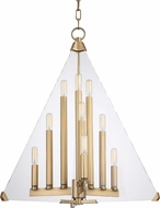 Hudson Valley 3339-AGB Triad Contemporary Aged Brass 24  Foyer Lighting