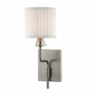 Hudson Valley 3351-HN Gorham Historic Nickel Finish 5  Wide Wall Light Sconce