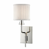 Hudson Valley 3351-PN Gorham Polished Nickel Finish 5  Wide Wall Sconce