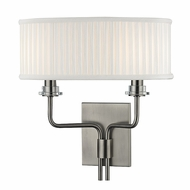 Hudson Valley 3352-HN Gorham Historic NIckel Finish 12.5  Wide Wall Lighting