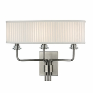 Hudson Valley 3353-HN Gorham Historic Nickel Finish 17.75  Wide Lamp Sconce