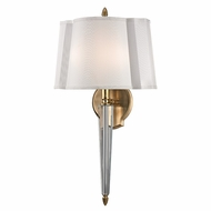 Hudson Valley 3611-AGB Oyster Bay Aged Brass Finish 12  Wide Wall Lighting Fixture