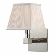 Hudson Valley 4041-PN Dixon Polished Nickel Finish 5.5  Wide Wall Lamp