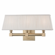 Hudson Valley 4043-AGB Dixon Aged Brass Finish 18  Wide Lighting Sconce