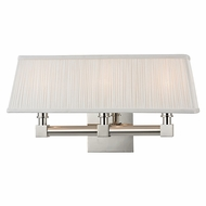 Hudson Valley 4043-PN Dixon Polished Nickel Finish 18  Wide Wall Sconce Lighting