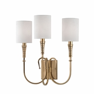 Hudson Valley 4093-AGB Kensington Aged Brass Wall Sconce Lighting