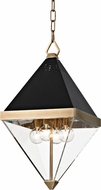 Hudson Valley 4510-AGB Coltrane Modern Aged Brass 10  Foyer Lighting Fixture