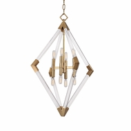 Hudson Valley 4623-AGB Lyons Contemporary Aged Brass Foyer Lighting Fixture