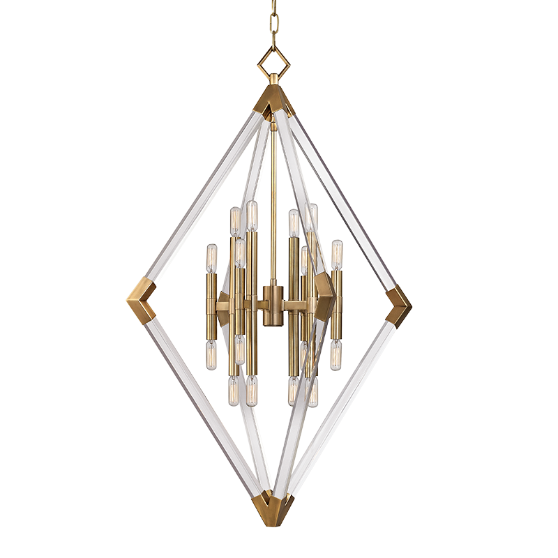 hudson valley 4630 agb lyons contemporary aged brass foyer