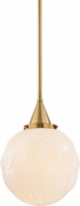 Hudson Valley 4812-AGB Tybalt Aged Brass Mini Pendant Light