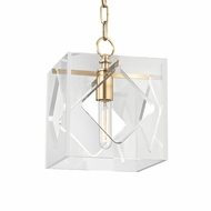 Hudson Valley 5909-AGB Travis Contemporary Aged Brass Mini Drop Lighting