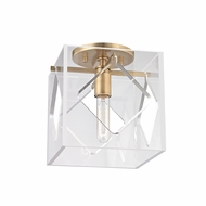 Hudson Valley 5909F-AGB Travis Modern Aged Brass Ceiling Light Fixture
