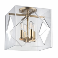 Hudson Valley 5912F-AGB Travis Contemporary Aged Brass Flush Mount Lighting