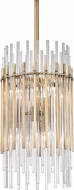 Hudson Valley 6310-AGB Wallis Modern Aged Brass Mini Drop Ceiling Light Fixture