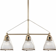 Hudson Valley 7313-AGB Haverhill Contemporary Aged Brass Island Lighting