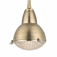 Hudson Valley 8109-AGB Belmont Aged Brass Finish 10.75  Wide Mini Pendant Light Fixture