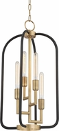 Hudson Valley 8314-AGB Angler Contemporary Aged Brass 15  Foyer Lighting Fixture