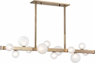 Hudson Valley 8744-AGB Mini Hinsdale Modern Aged Brass LED Kitchen Island Lighting