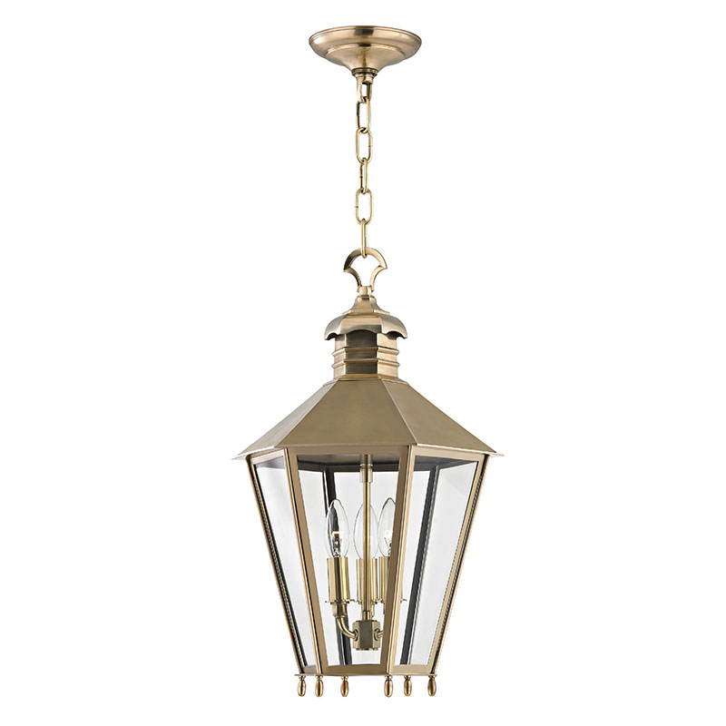 Hudson Valley 8813 AGB Barstow Aged Brass 13 Wide Foyer Light Fixture