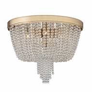 Hudson Valley 9008-AGB Royalton Aged Brass Flush Mount Light Fixture