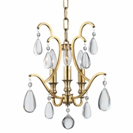 Hudson Valley 9303-AGB Crawford Aged Brass Mini Chandelier Lamp