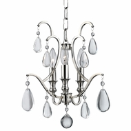 Hudson Valley 9303-PN Crawford Polished Nickel Mini Chandelier Light