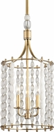 Hudson Valley 9313-AGB Whitestone Modern Aged Brass 11  Foyer Lighting Fixture