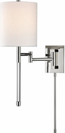 Hudson Valley 9421-PN Englewood Modern Polished Nickel Swing Arm Wall Lamp