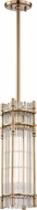 Hudson Valley 9617-AGB Grant Contemporary Aged Brass Mini Hanging Light