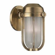 Hudson Valley 980-AGB Pompey Aged Brass Finish 9.5  Tall Light Sconce