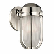 Hudson Valley 980-PN Pompey Polished Nickel Finish 9.5  Tall Wall Light Fixture