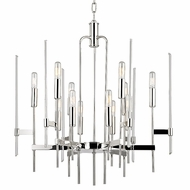 Hudson Valley 9912-PN Bari Modern Polished Nickel Finish 26.5  Tall Chandelier Light