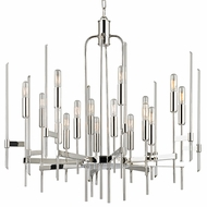 Hudson Valley 9916-PN Bari Modern Polished Nickel Finish 29  Tall Lighting Chandelier