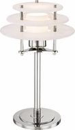 Hudson Valley L912-PN Gatsby Modern Polished Nickel LED Table Lamp Lighting
