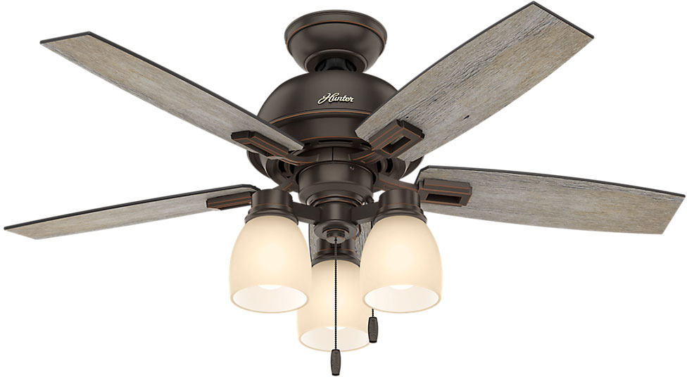 Hunter 52228 Donegan Three Light Barnwood Dark Walnut