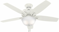 Hunter 52265 Wetherby Cove Fresh White / Light Oak Fluorescent Indoor / Outdoor 48 Home Ceiling Fan