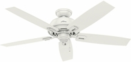 Hunter 54168 Donegan Damp Fresh White / Washed Walnut Indoor / Outdoor 52 Home Ceiling Fan