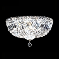 James Moder 40214S22 Impact Flush Mount Collection Silver Ceiling Lighting Fixture
