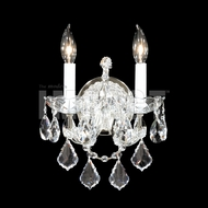 James Moder 40252 Maria Theresa Crystal Silver Wall Lighting