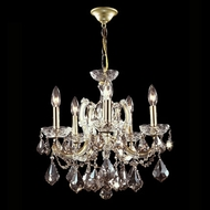 James Moder 40255GL4GT Impact Maria Theresa Collection Gold Lustre Mini Chandelier Light