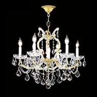 James Moder 40256GL22 Impact Maria Theresa Collection Gold Lustre Mini Lighting Chandelier