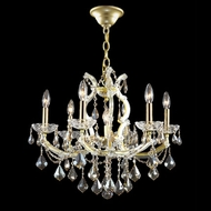 James Moder 40256GL4GT Impact Maria Theresa Collection Gold Lustre Mini Chandelier Lamp