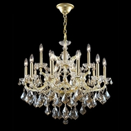 James Moder 40257GL4GT Impact Maria Theresa Collection Gold Lustre Chandelier Light